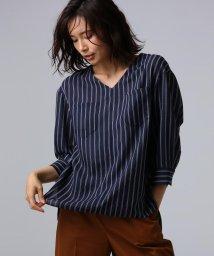 UNTITLED/【洗える】クルーズストライプダブルポケットシャツ/502343130