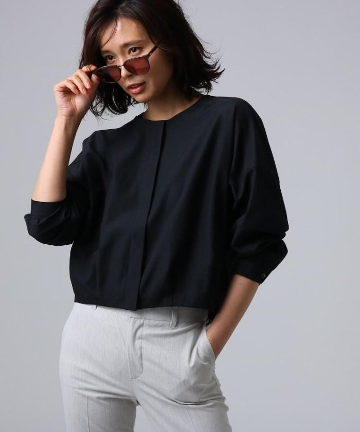 [L]【洗える】ライトタンブラークロスシャツジャケット