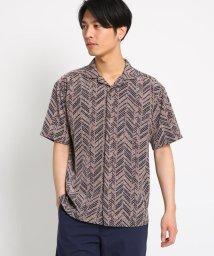 THE SHOP TK/柄開襟半袖シャツ/502343761