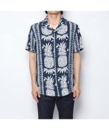 GUESS/ゲス GUESS HAWAIIAN MIX SHIRT (SMART BLUE)/502344177