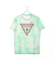 GUESS/ゲス GUESS DISTRESSED TRIANGLE LOGO TEE (MUFFLE MINT)/502344188