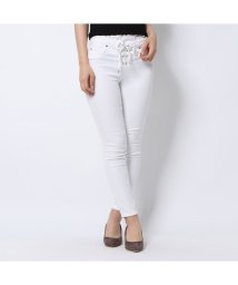 GUESS/ゲス GUESS SEXY CURVE LACE-UP DENIM PANT (OPTIC WHITE)/502344201