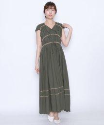 LASUD/【スール soeur7】ギャザー刺繍 Wリボン ワンピース/502308242