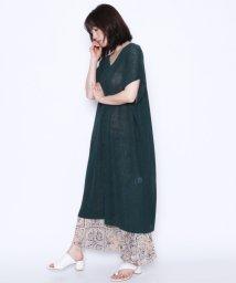 LASUD/【アーガ Aga】麻混 ロングニット/502308249