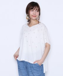 LASUD/【ラディエイト RADIATE】スター刺繍 サマーニット プルオーバー/502308261