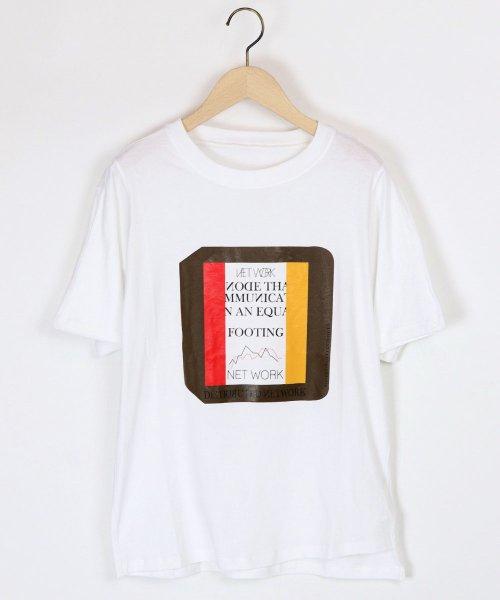 LASUD(ラシュッド)/【ラディエイト RADIATE】トリコロール プリントデザイン 半袖 Tシャツ/011251316