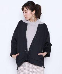 LASUD/【アーガ Aga】ボンディング ノーカラー ジャケット/502308274