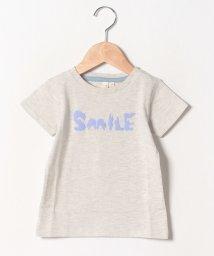 LAGOM/くまロゴ発泡プリントTシャツ/502328486