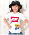 ANAP KIDS/ステッカー風プリントTシャツ/502344468