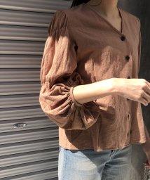 CIEL AIR/ボリュームスリーブシャーリングシャツ/502312173