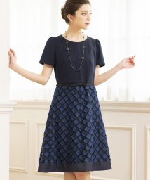 TO BE CHIC/カットジャカードコンビドレス/502327550