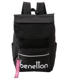 BENETTON (women)/背面ファスナー付きロゴフラップリュック・バックパック/502338624