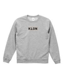 KLON/KLON SWEAT LOGOTYPE GRAY(LOGO BLACK)/502338954