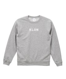 KLON/KLON SWEAT LOGOTYPE GRAY(LOGO WHITE)/502338955