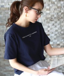 REAL CUBE/英字ロゴTシャツ/502345246
