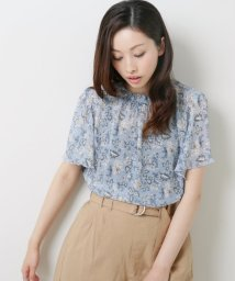 framesRayCassin/中花シャーリングプチハイ半袖ブラウス/502345930