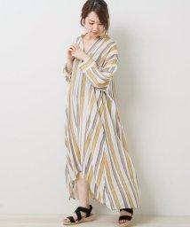 framesRayCassin/スラブストライプ抜き衿ワンピース/502345935