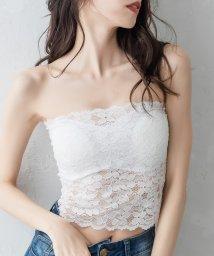 Julia Boutique/累計50000枚完売の万能インナー!! 美胸パッドイン上質総レースベアトップインナー/3088/502346072