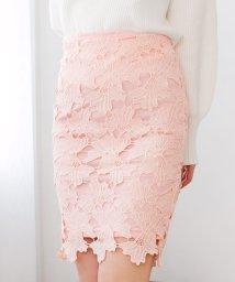 Julia Boutique/大人っぽい綺麗めスタイルが完成♪花柄刺繍レースミディアム丈タイトスカート・ボトム/17471/502346090