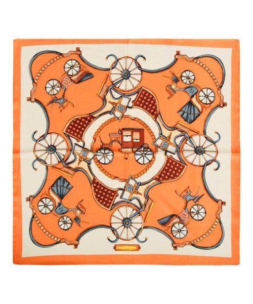 Julia Boutique(ジュリアブティック)/60×60cmサイズ・ヴィンテージ風サテン生地スカーフ・バンダナ・ストール/100012/100012