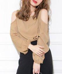 Julia Boutique/バルーン袖肩開きブラウス・トップス/520026/502346152