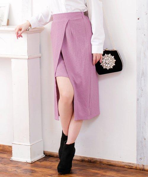 Julia Boutique(ジュリアブティック)/スリットデザインミディアム丈タイトスカート/520027/520027