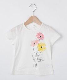 3can4on(Kids)/【コットン100%】【90cm~150cm】水彩フラワープリントTシャツ/502346733
