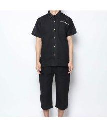STYLEBLOCK/スタイルブロック STYLEBLOCK しじら織りパジャマ (ブラック)/502347274