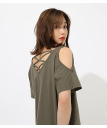AZUL by moussy/BACK LACE UP OPEN SHOULDER T/502348005