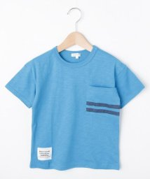 3can4on(Kids)/【コットン100%】【90cm~160cm】スラブ天竺 ポケットボーダーTシャツ/502348511