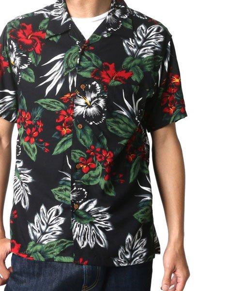 MARUKAWA(マルカワ)/レーヨン アロハシャツ 総柄プリント オープンカラーシャツ/2152820073