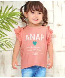 ANAP KIDS/フリル袖シンプルロゴTOPS/502326948