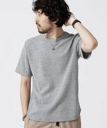 nano・universe/ラウンドワッフルショートスリーブTシャツ/502331294