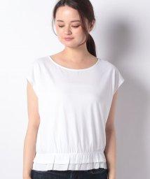 BENETTON (women)/コットン裾シャーリングフレンチスリーブトップス・カットソー/502338616