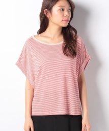 BENETTON (women)/リネンコットンボーダーオーバーサイズ半袖Tシャツ・カットソー/502338617