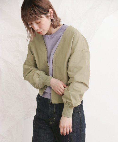【KBF】Vネックブルゾン