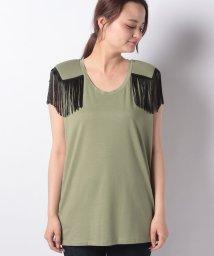 BENETTON (women)/肩フリンジノースリーブTシャツ/502341586