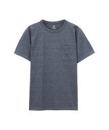 MAC HOUSE(men)/Navy 汗ジミ軽減 ポケットTシャツ MH/03626SS-1/502342587