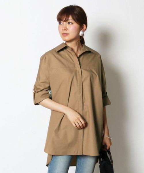 SCOTCLUB(スコットクラブ)/GRANDTABLE(グランターブル) ロールアップビッグシャツ/021326062