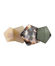 cream dot/こなれ感たっぷり重なる五角形プレートのヘアバレッタ/502348797