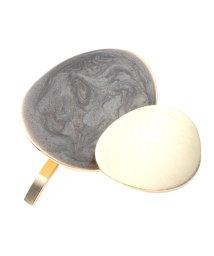 cream dot/ニュアンスカラーのマーブル柄×メタルポニーフック/502348800