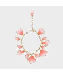 CHARLES & KEITH/クリスタル&アクリル ペタルブレスレット / Crystal & Acrylic Petal Bracelet (Pink)/502353277