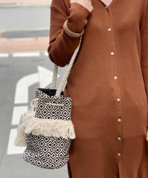 fredy emue/【Swaraj/スワラージ】ジャガードフリンジショルダーバッグ/502344426