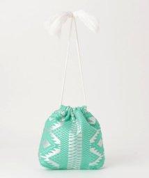 fredy emue/【Swaraj/スワラージ】幾何学ジャガード巾着バッグ/502344427