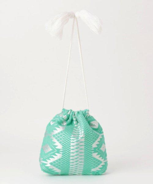 fredy emue(フレディエミュ)/【Swaraj/スワラージ】幾何学ジャガード巾着バッグ/9-0552-2-32-104