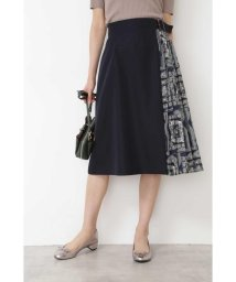 NATURAL BEAUTY BASIC/スカーフプリント切替スカート/502353490