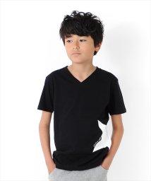 GLAZOS/サイドビッグスターVネック半袖Tシャツ/502353957