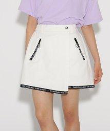 PINK-latte/ラップ裾ロゴ スカート/502354860