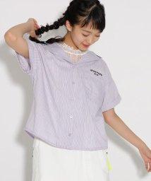 PINK-latte/開襟シャツ+レースノースリ セット/502354861