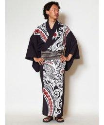 CAYHANE/【チャイハネ】トライバル柄メンズ浴衣 IAC-9226/502355502